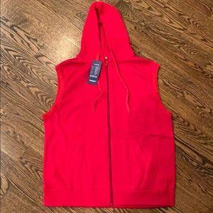 NWT red sweatshirt vest size M